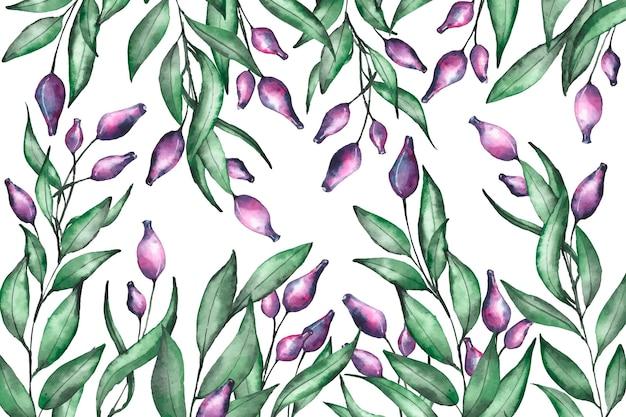 Fond floral réaliste peint à la main
