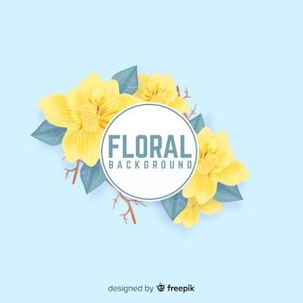 Fond floral réaliste