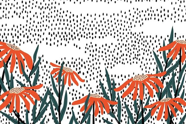 Fond floral rétro