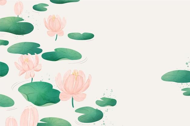 Fond floral simple