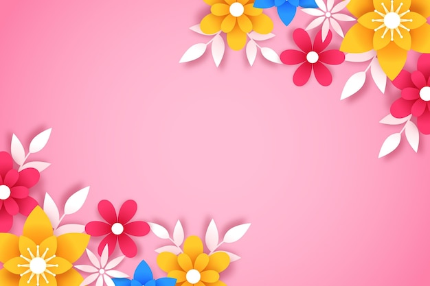 Fond floral de style papier