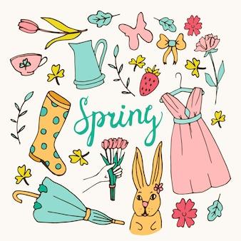 Fond floral, thème de printemps, carte de voeux