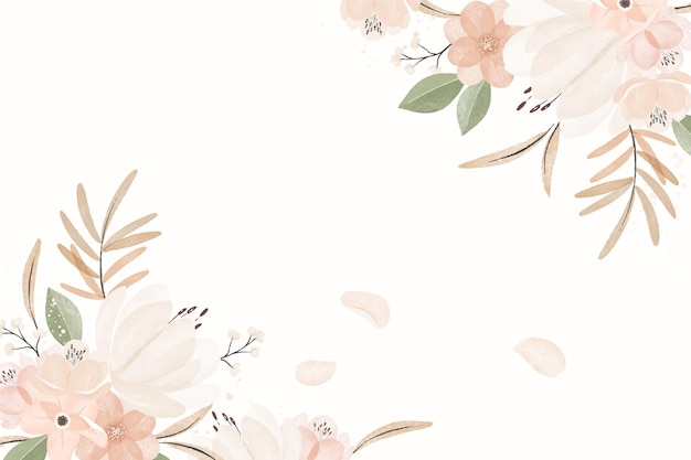 Fond floral vintage aquarelle
