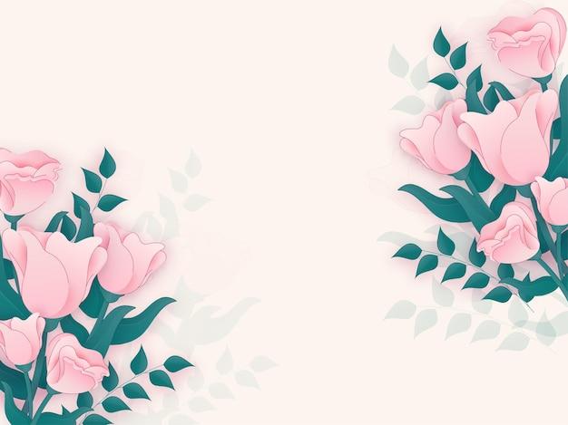 Fond floral.