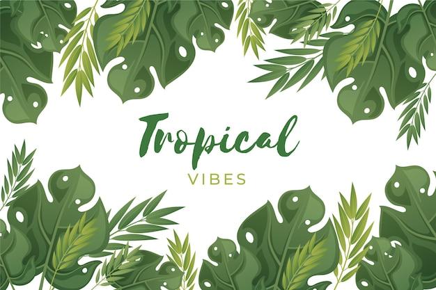 Fond de flore tropicale