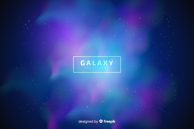 Fond flou de la galaxie