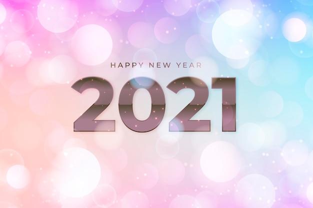 Fond flou de nouvel an 2021