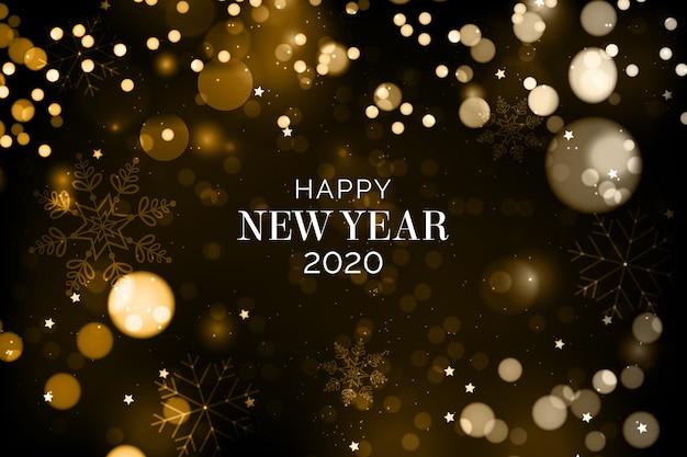 Fond flou de la nouvelle année 2020