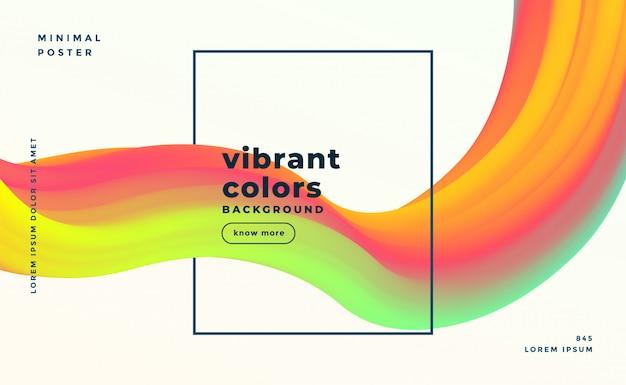 Fond fluide coloré abstrait liquide moderne formes