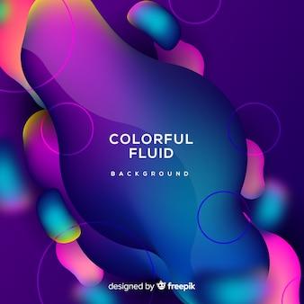 Fond fluide coloré