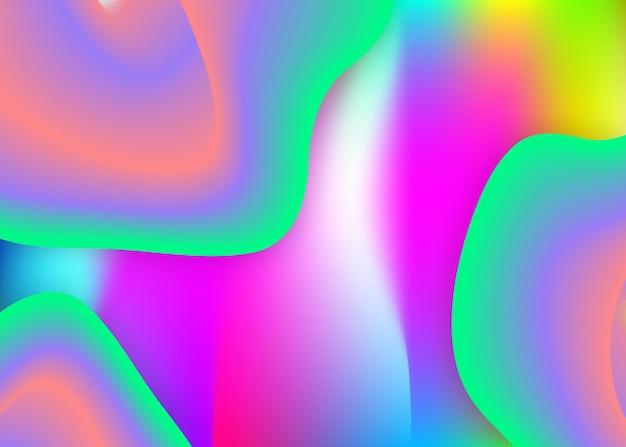 Fond fluide avec des éléments et des formes dynamiques liquides.
