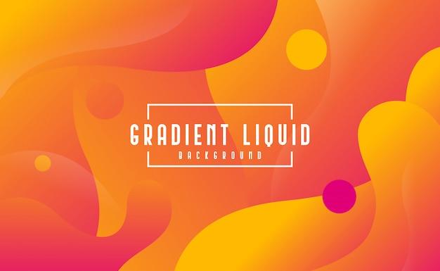Fond fluide moderne avec couleur liquide