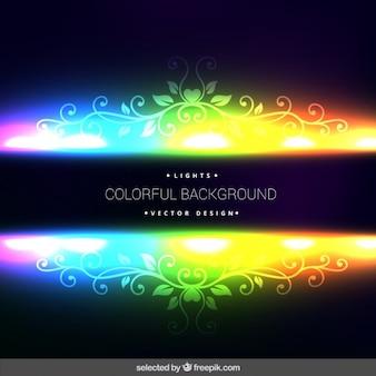 Fond fluorescent ornementale