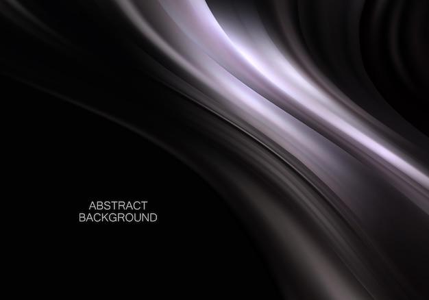 Fond de flux abstrait vague