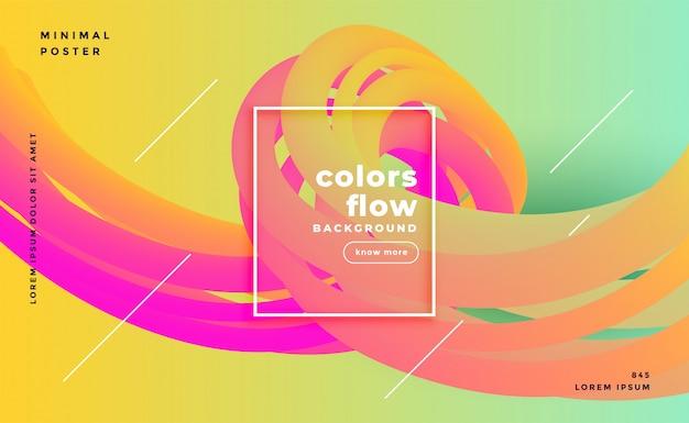 Fond de flux de formes liquides colorés