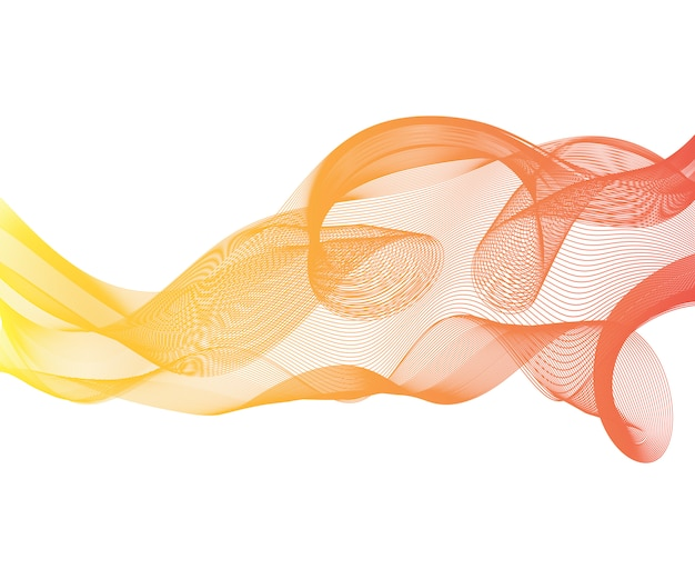 Fond de flux de vague de haute technologie futuriste high-tech swoosh
