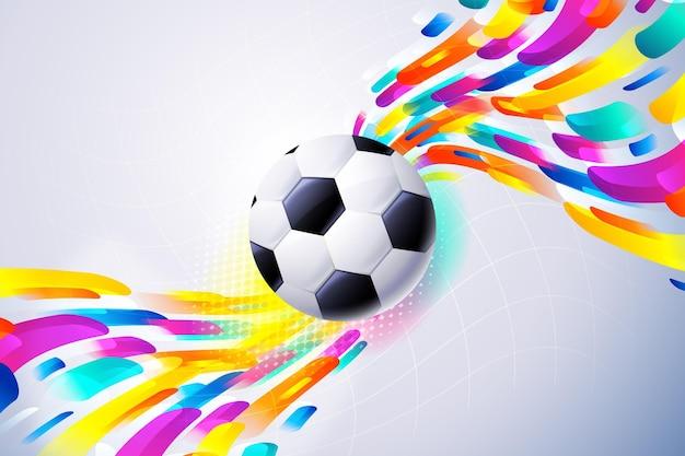 Fond De Football Abstrait Dégradé Vecteur gratuit