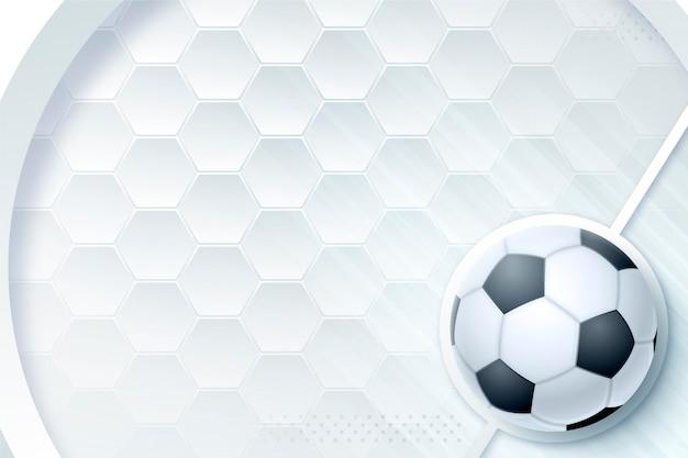 Fond de football abstrait réaliste