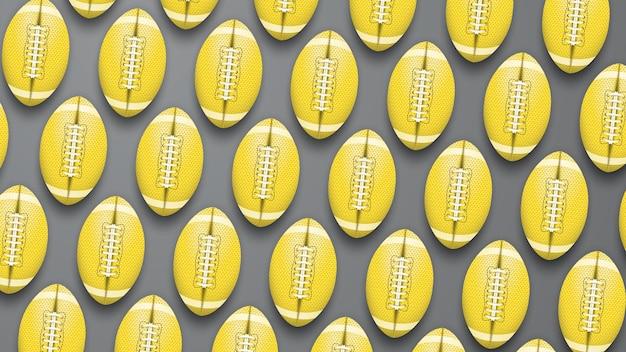 Fond de football américain jaune et gris