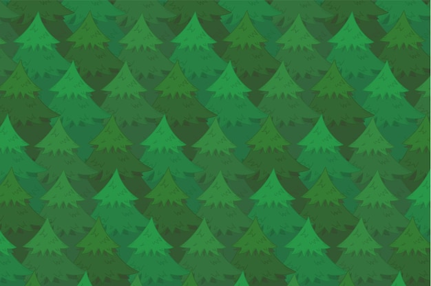 Fond de forêt de conifères vert clair