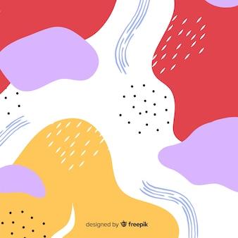Fond de forme abstraite dessiné à la main