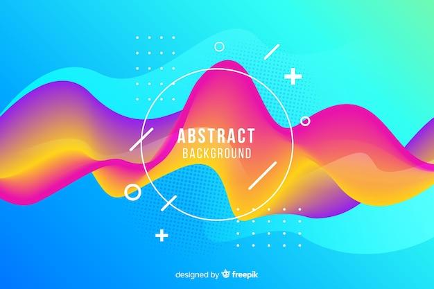 Fond de forme arrondie abstraite