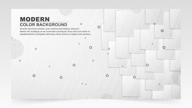 Fond de forme carrée blanc foncé