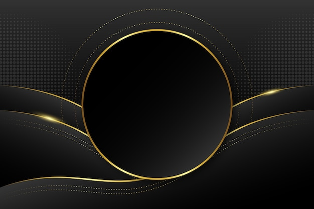 Fond de forme circulaire de luxe doré