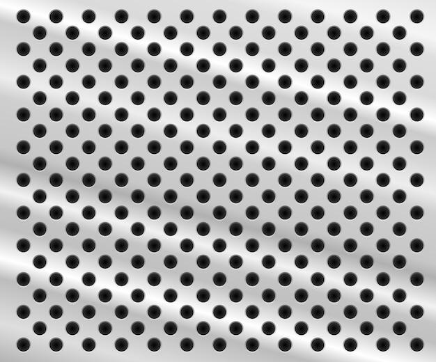 Fond en forme de feuille d'aluminium avec des trous