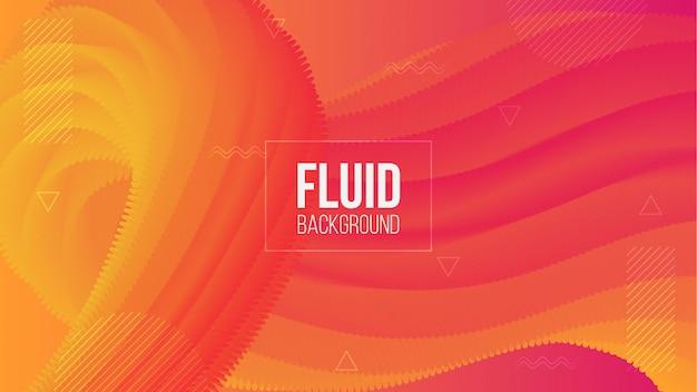 Fond de forme fluide abstrait 3d gradient moderne
