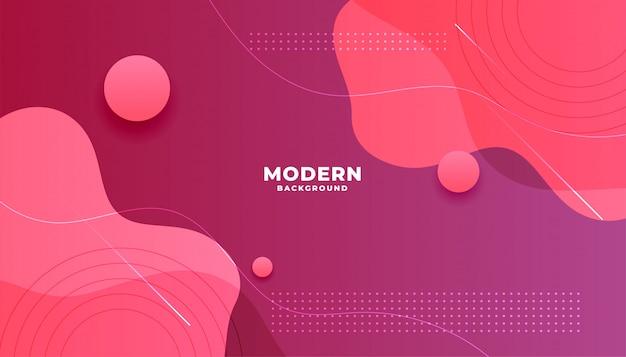 Fond de forme fluide abstrait rose