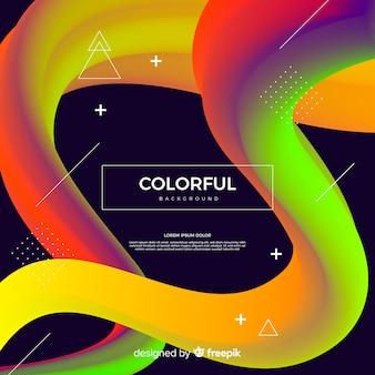 Fond de forme fluide coloré