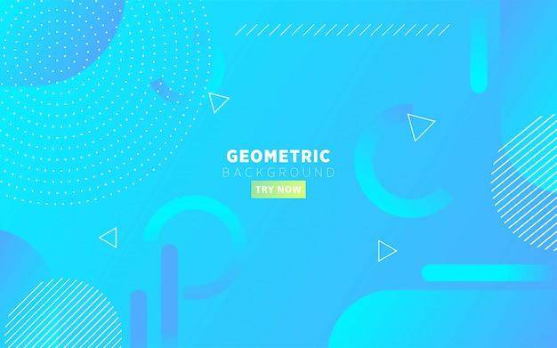 Fond de forme géométrique abstraite dégradé bleu moderne