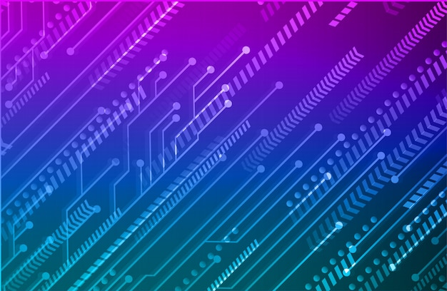 Fond de forme géométrique de circuit de flèche dégradé bleu violet