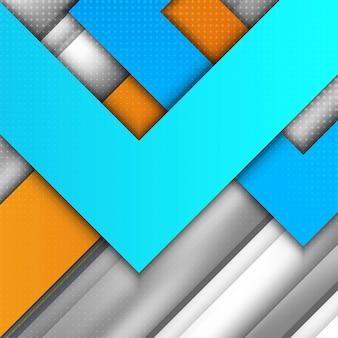 Fond de forme géométrique colorée abstraite