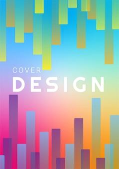 Fond de forme géométrique dégradé coloré abstrait pour la couverture et le papier peint. conception de vecteur géométrique moderne