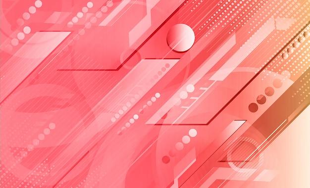 Fond de forme géométrique dégradé numérique rose