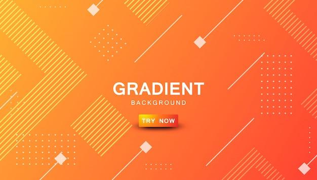 Fond de forme géométrique dégradé orange