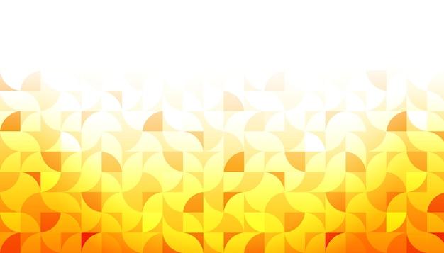 Fond de forme géométrique jaune