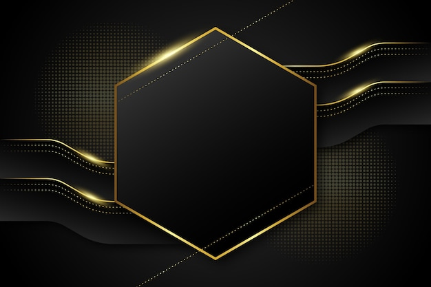 Fond de forme hexagonale de luxe doré