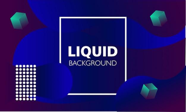 Fond de forme liquide