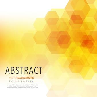 Fond de forme polygonale jaune clair