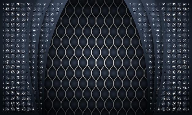 Fond avec forme sombre de paillettes argentées