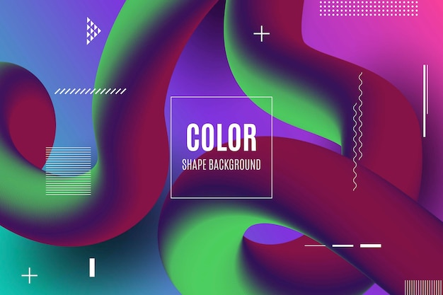 Fond de formes 3d fluide coloré