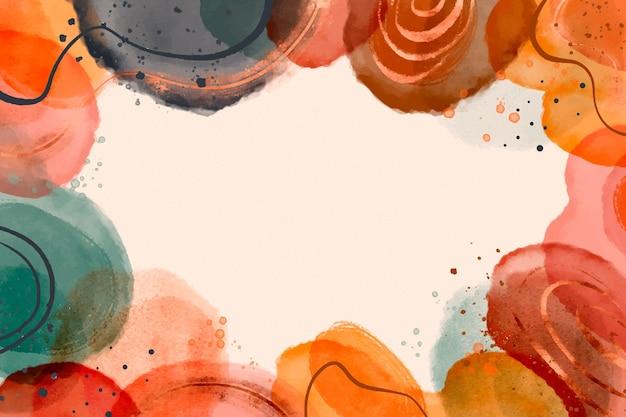 Fond de formes abstraites aquarelle