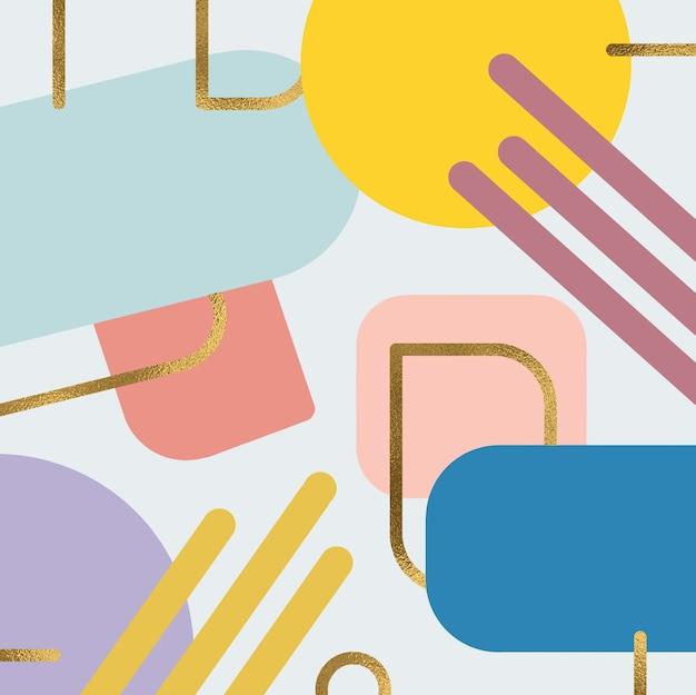 Fond de formes abstraites colorées