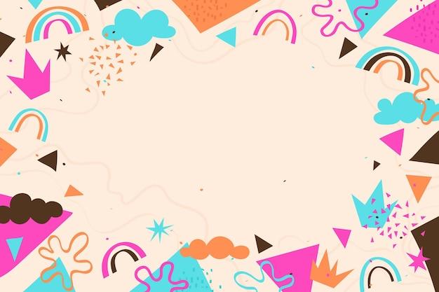Fond de formes abstraites dessinés à la main