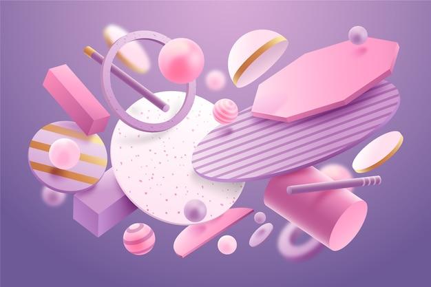 Fond de formes abstraites flottantes