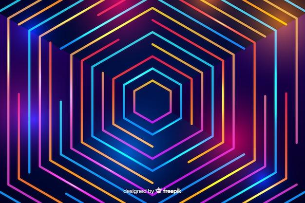 Fond avec des formes abstraites de néon