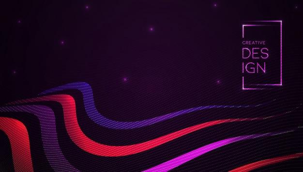 Fond de formes abstraites de particules rougeoyantes